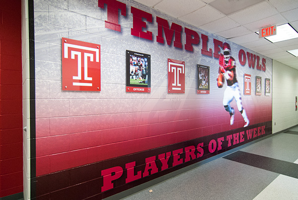 Temple football players of the week large scale wall graphic
