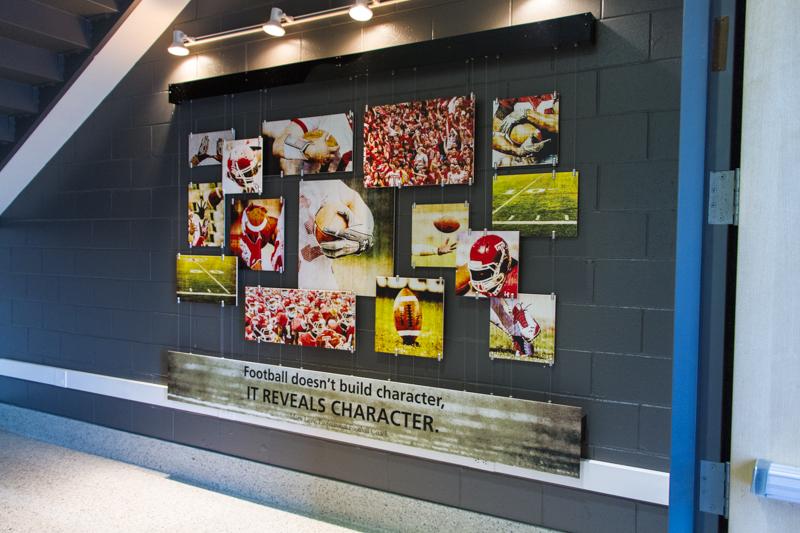 Temple Football wall display