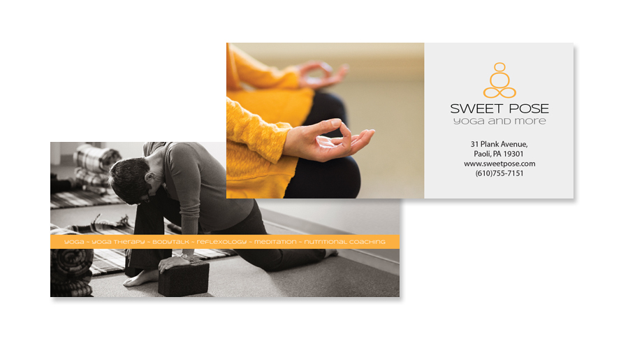 Sweet Pose Yoga Rack Card