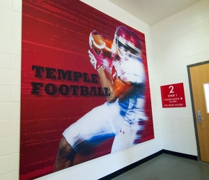 Temple football  large scale graphic