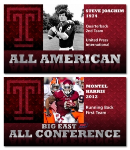 Temple All-conference LED screen graphics