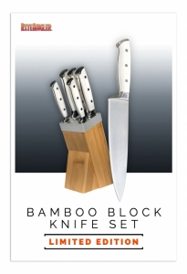 Bamboo block knife set