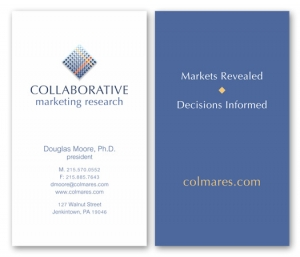 Collaborative Marketing Research Business card design