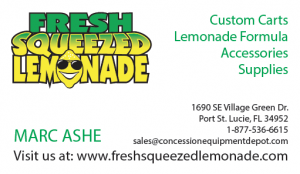 Fresh Squeezed Lemonade Business Card
