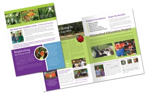 Heathcote Botanical Gardens Newsletter design