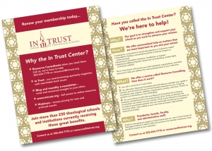 In Trust Center Membership Flyer design