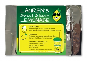 Lauren's Sweet & Easy Lemonade Packet Label Design