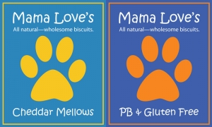 Mama Love's Dog Biscuit labels