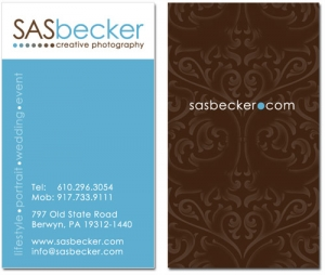 SAS Becker business card design