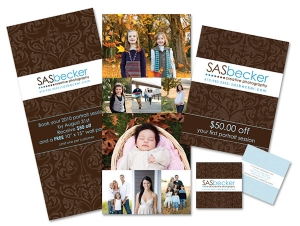 SAS Becker Creative Photography promotional cards
