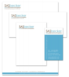 SAS becker stationery design