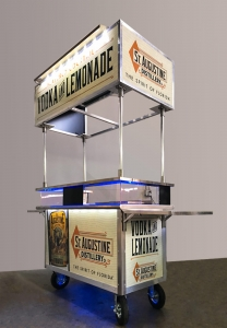 mobile bar cart graphics design