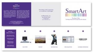 SmartArt tri-fold mailer